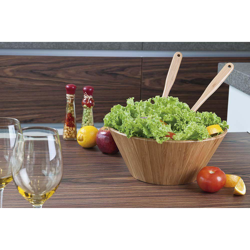 Saladeiras Bamboo 3 Peças  - Pensou Filtros