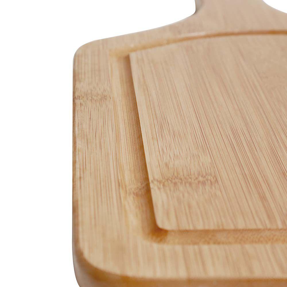 Tábua para Corte com Alça Bamboo 50cm x 30cm  - Pensou Filtros