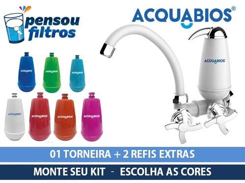 - Torneira Com Filtro Acquabios + 02 Refis Escolha A Cor  - Pensou Filtros