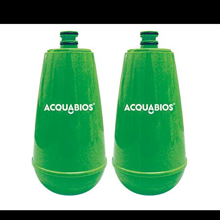 Torneira Filtro Bica Móvel com 2 Refis - Verde Acquabios  - Pensou Filtros