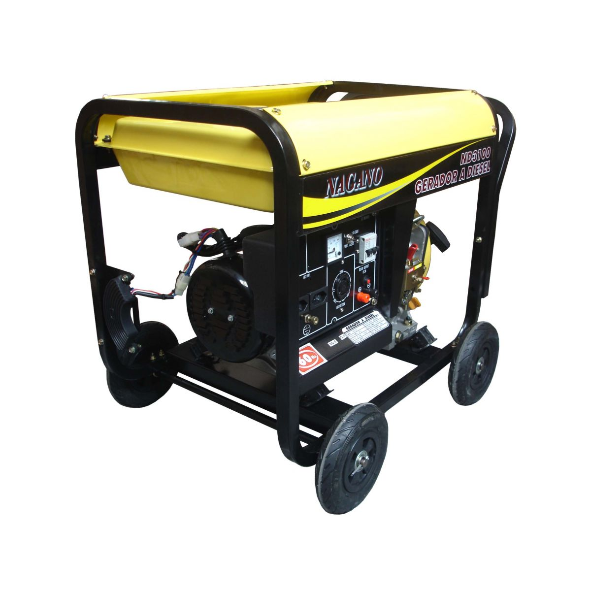 Gerador de energia a Diesel Monofásico 3 KVA - Partida Manual - ND3100 - Nagano