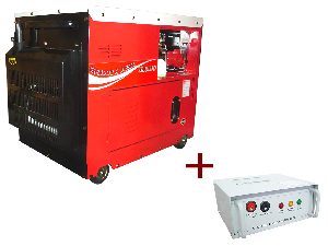 Gerador de energia a Diesel 220V Trifásico 6.0 KVA P. Elétrica Silenciado com QTA - ND7000ES3QTA - Nagano