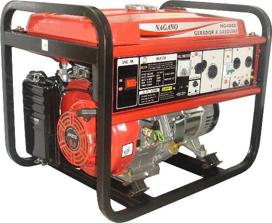 Gerador de energia a Gasolina 4 Tempos Monofásico 4 KVA Partida Manual Bivolt - NG4000 - Nagano
