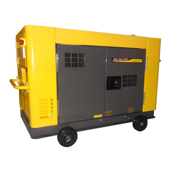 Gerador de energia a Diesel 220V Trifásico Silenciado - 12.65 kVA Refrigerado a Água - NDE12STA3 - Nagano