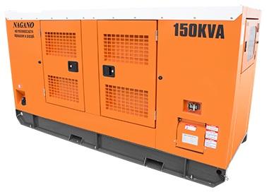 Gerador de energia a Diesel Trifásico 220V partida elétrica cabinado silenciado 150 kVA - ND150000ES3 - Nagano