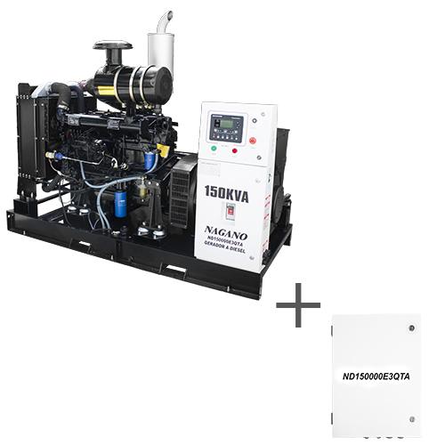 Gerador de energia a Diesel Trifásico 220V partida elétrica 150 kVA c/ QTA Nagano - ND150000E3QTA