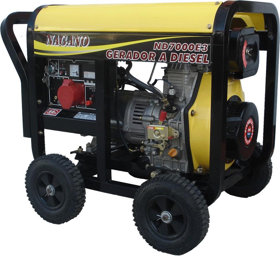 Gerador de energia a Diesel Monofásico 6 KVA Partida Elétrica - ND7000EQTA - Nagano