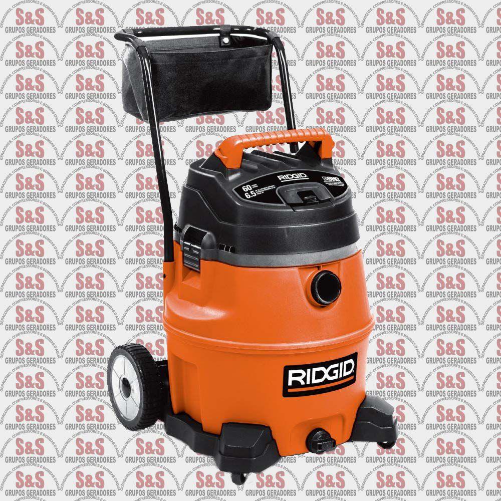 Aspirador de Pó e Líquidos 60 Litros - 4875 Watts - 6.5 HP - 110V - WD1856BR - Ridgid