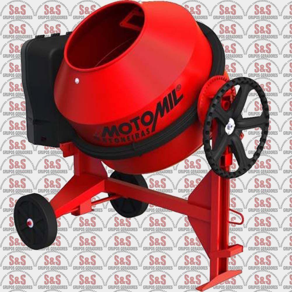 Betoneira 265 Litros 1 hp com motor Monofásico 220V - MB265P - Motomil