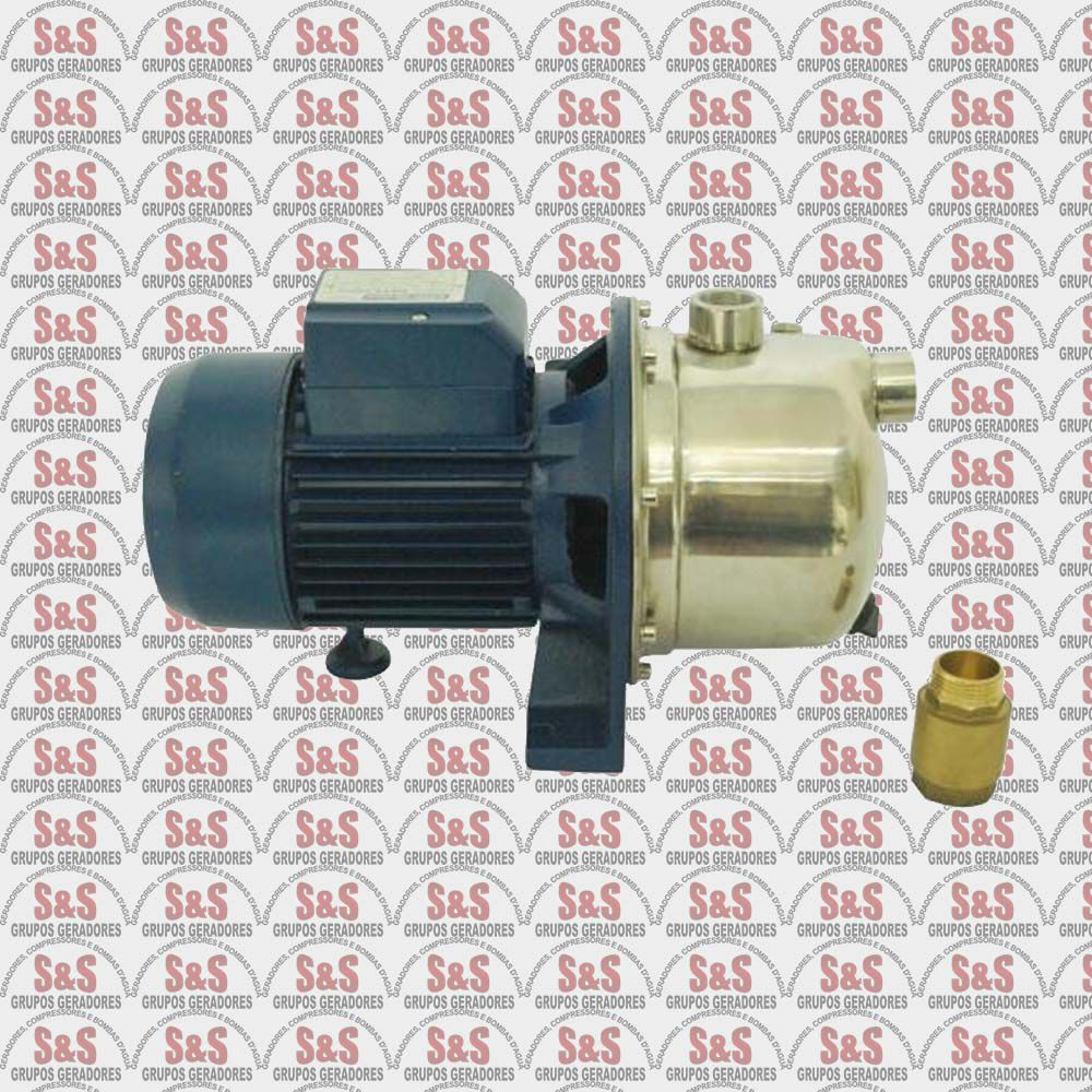 Bomba Centrífuga Autoaspirante em inox - 1/2cv - 110V - MBAS 50NX - Eletroplas