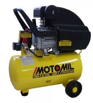 Motocompressor 7,6 Pés 24 Litros - 110/220 Volts - CMI7,6/24 - Motomil