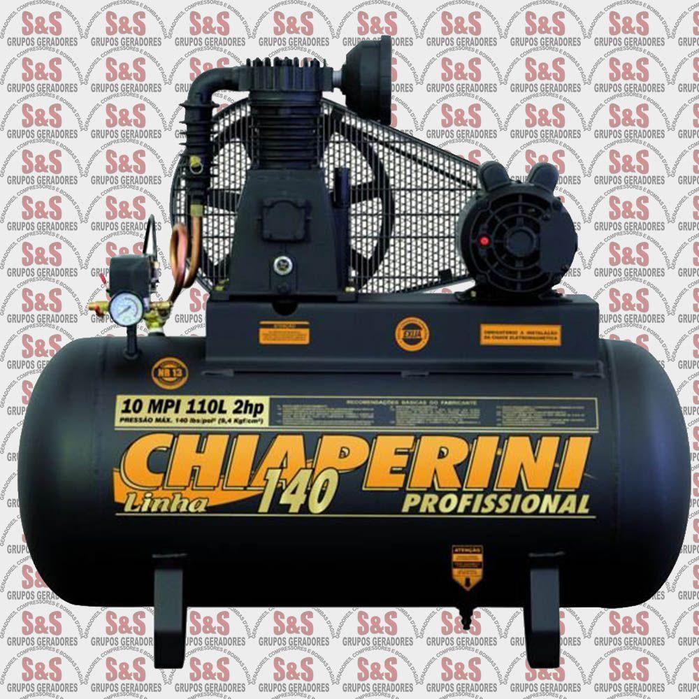 Compressor de Ar 10 MPI110L - Monofásico - Chiaperini