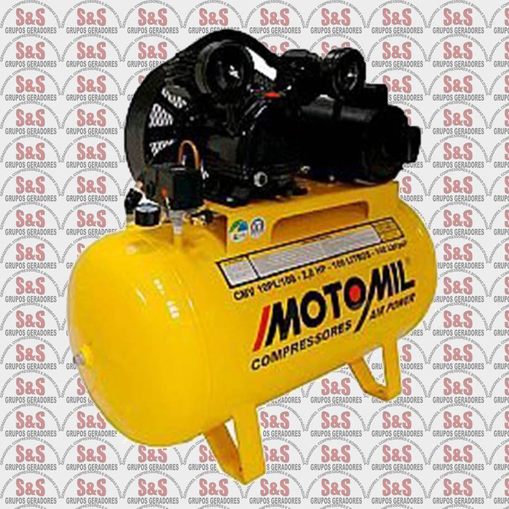 Compressor de ar 10 pés - 150 litros - Trifásico - CMV10PL1500 - Motomil