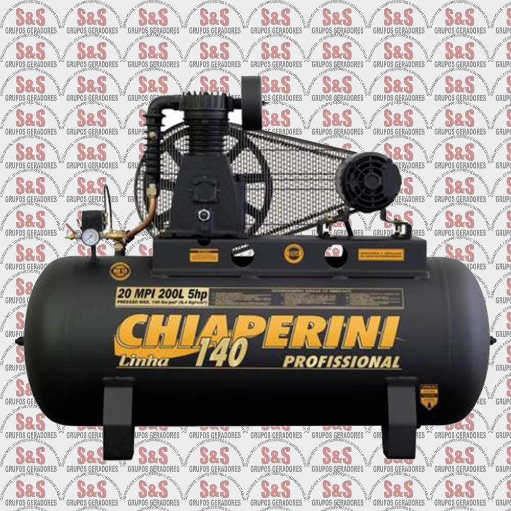 Compressor de Ar - 20MPI 200L - Trifásico - Chiaperini