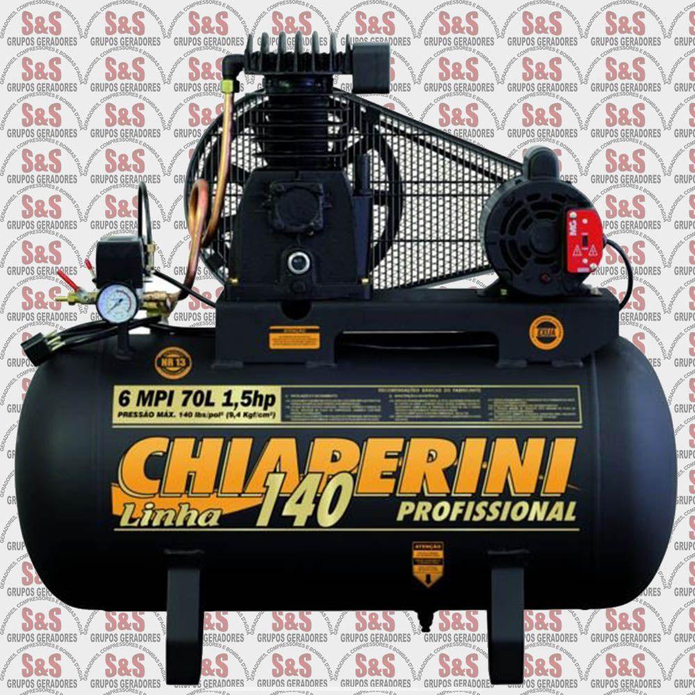 Compressor de Ar - 6 MPI70L  - Monofásico - Chiaperini