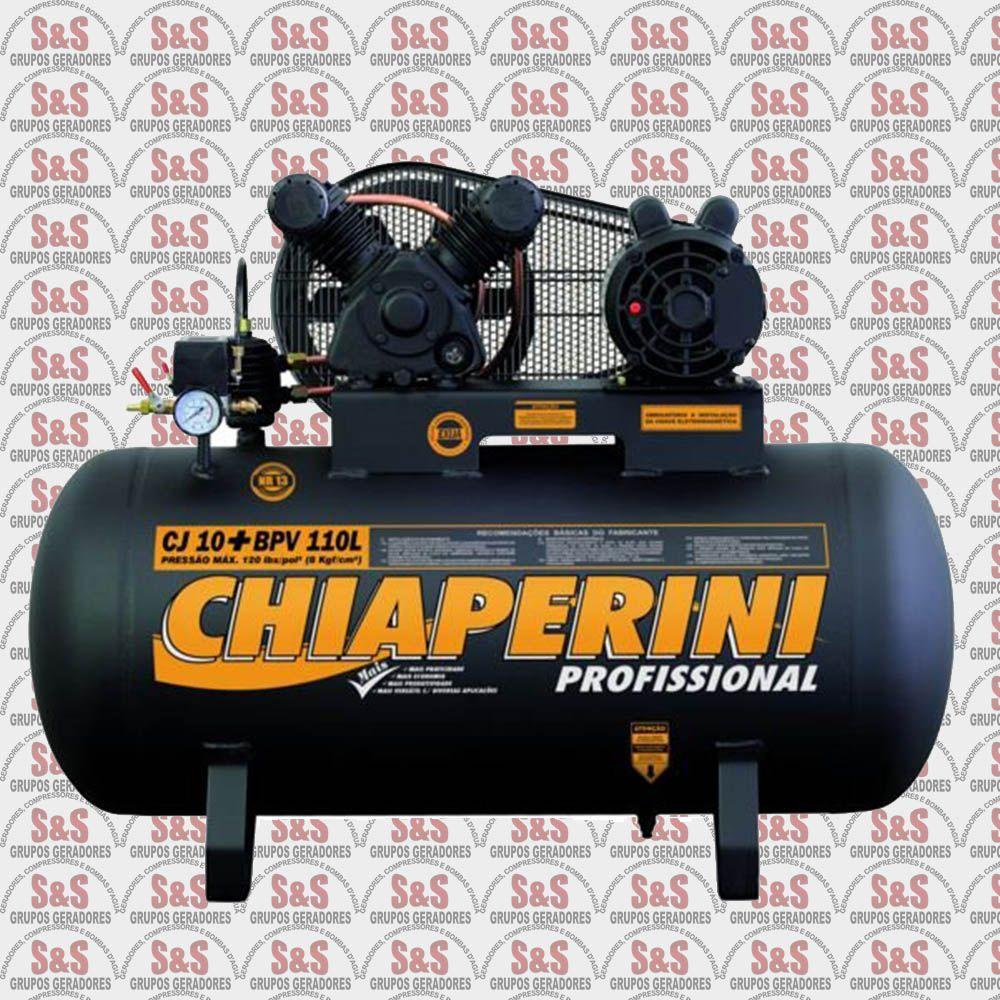Compressor de Ar CJ10 + BPV 110L - Monofásico - Chiaperini