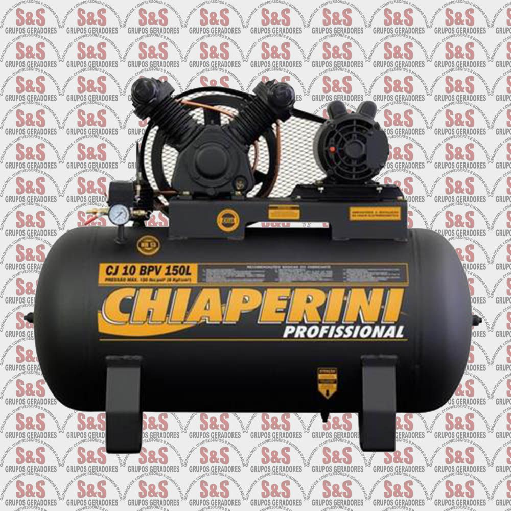 Compressor de Ar CJ10 + BPV 150L - Monofásico - Chiaperini