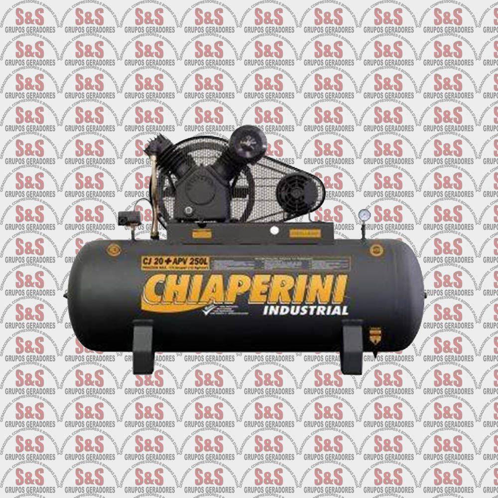 Compressor de Ar CJ20 + APV 250L - Trifásico - Chiaperini