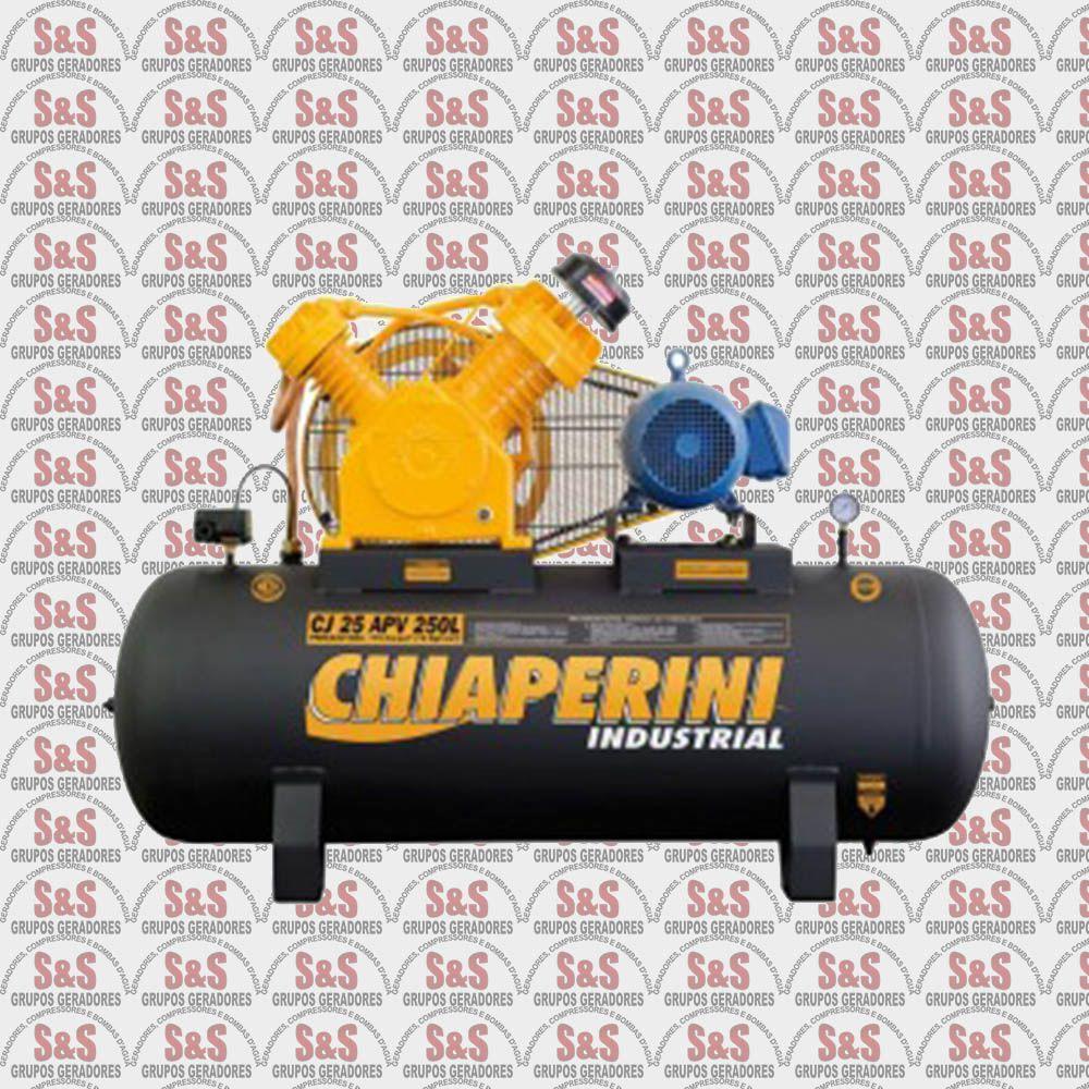 Compressor de Ar - CJ25 APV 250L - Trifásico - Chiaperini
