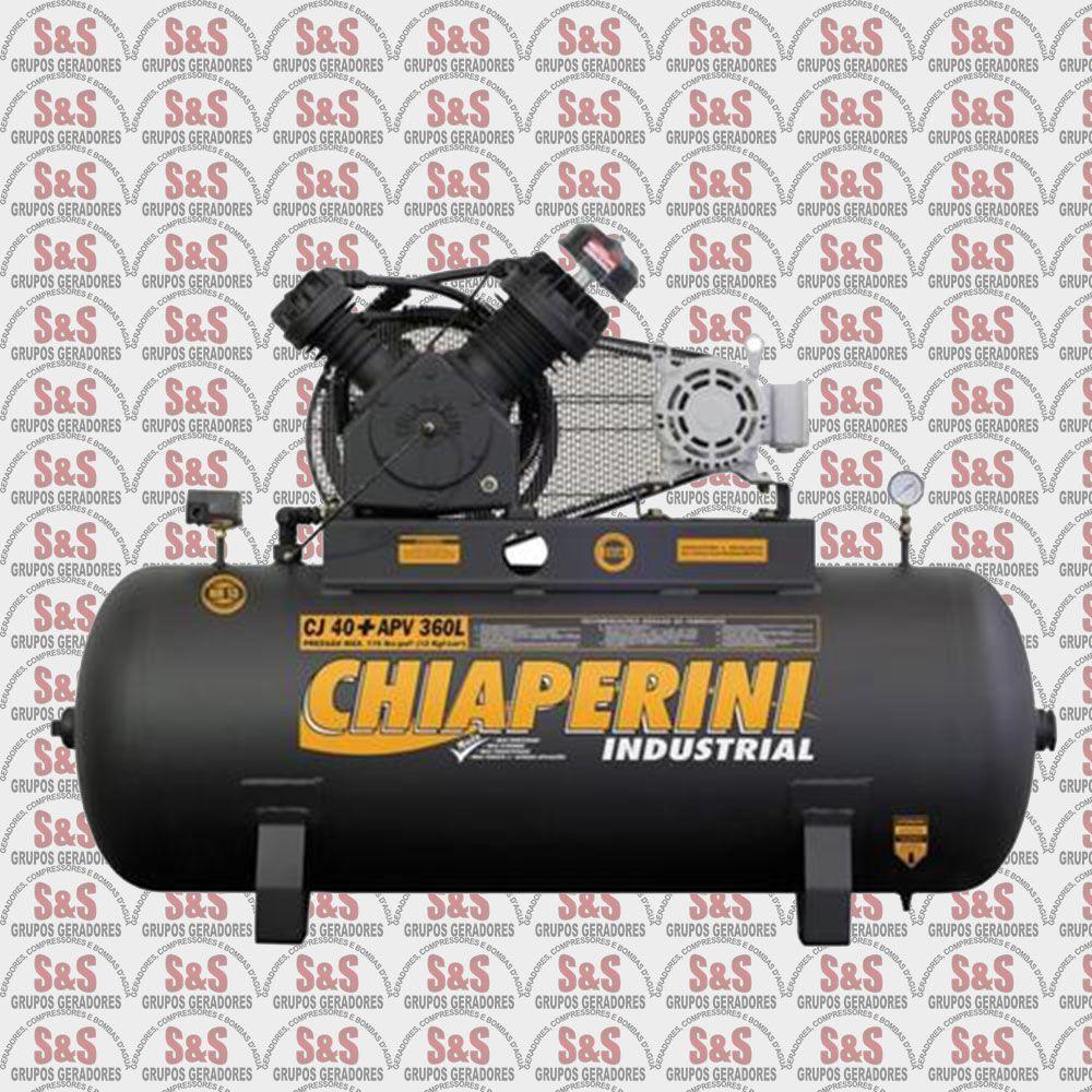 Compressor de Ar CJ40 + APV 360L - Trifásico - Chiaperini