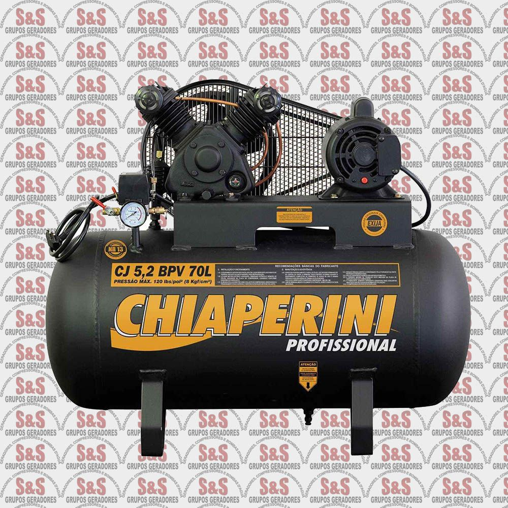 Compressor de Ar - CJ5,2 BPV 70L - Monofásico - Chiaperini