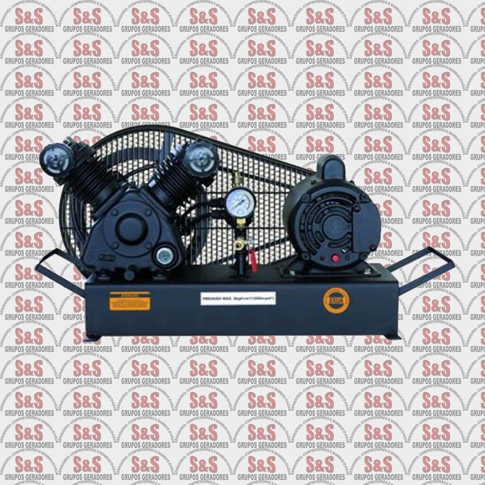 Compressor de Ar - CJ5.2 BPV Base - 1 HP - 2P - Monofásico - Chiaperini