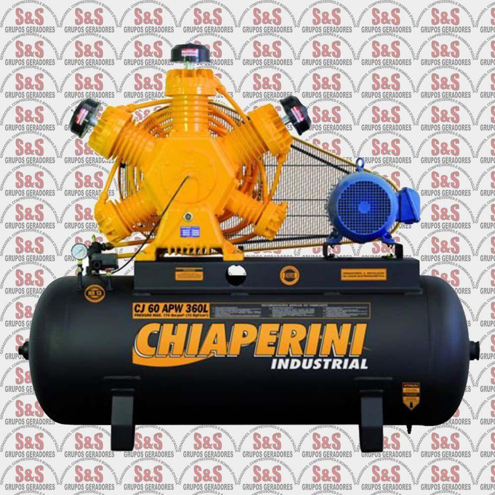 Compressor de Ar CJ60 APW 360L - Trifásico - Chiaperini