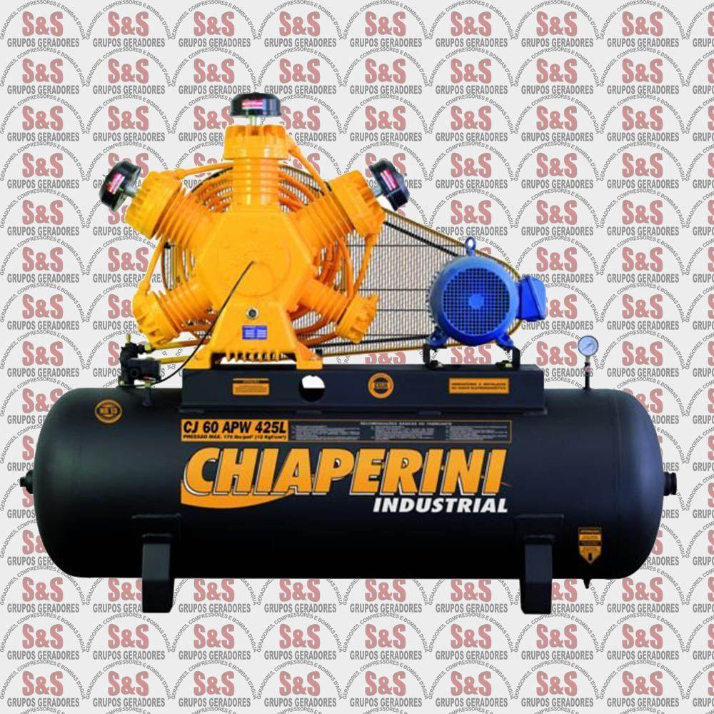 Compressor de Ar CJ60 APW 425L - Trifásico - Chiaperini