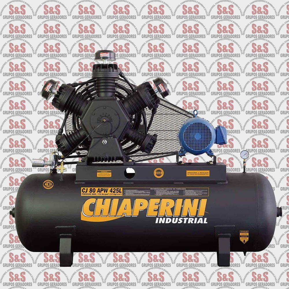 Compressor de Ar - CJ80 APW 425L - Trifásico - Chiaperini