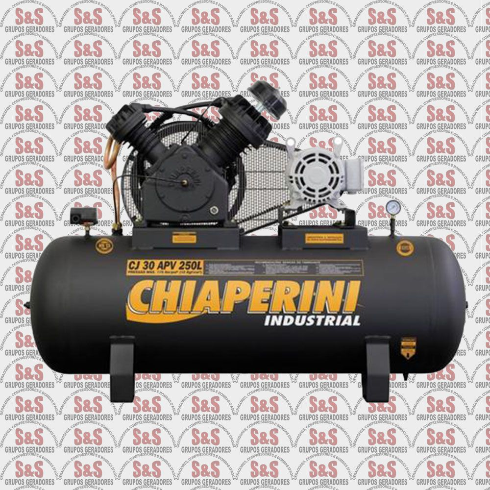 Compressor de Ar - CJ 30 APV 250L - Trifásico - Chiaperini
