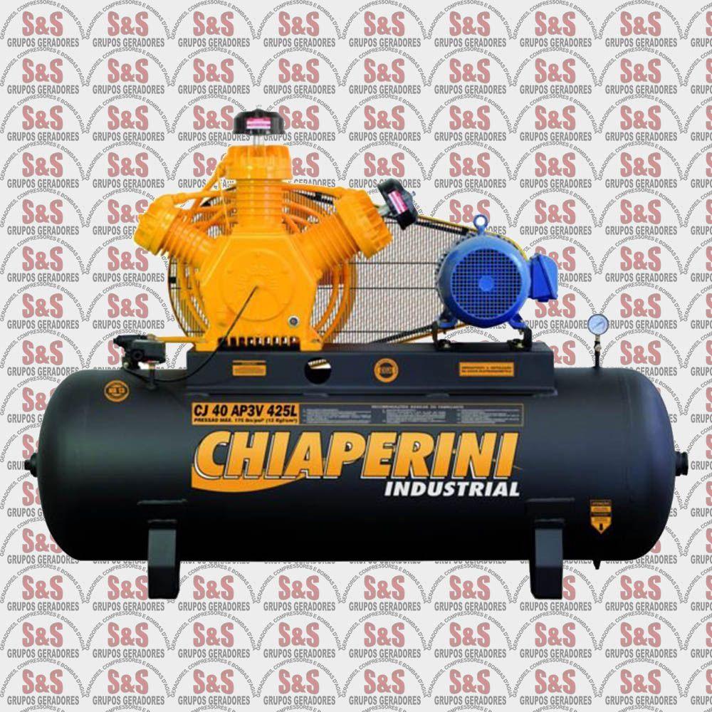 Compressor de Ar CJ 40 AP3V 425L - Trifásico - Chiaperini
