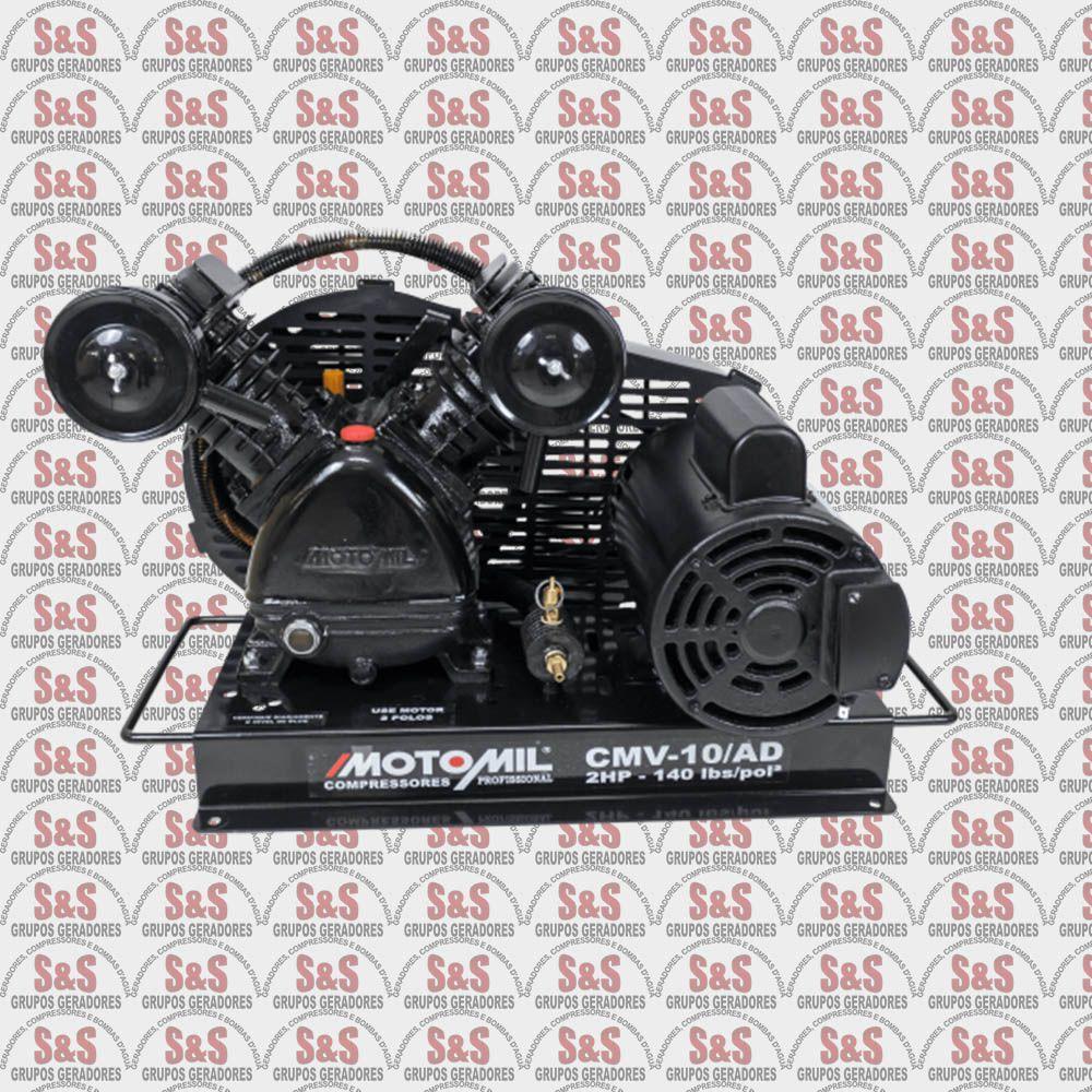 Compressor de Ar Direto com Motor Monofasico - 2HP - 2 Polos - CMV10AD - Motomil