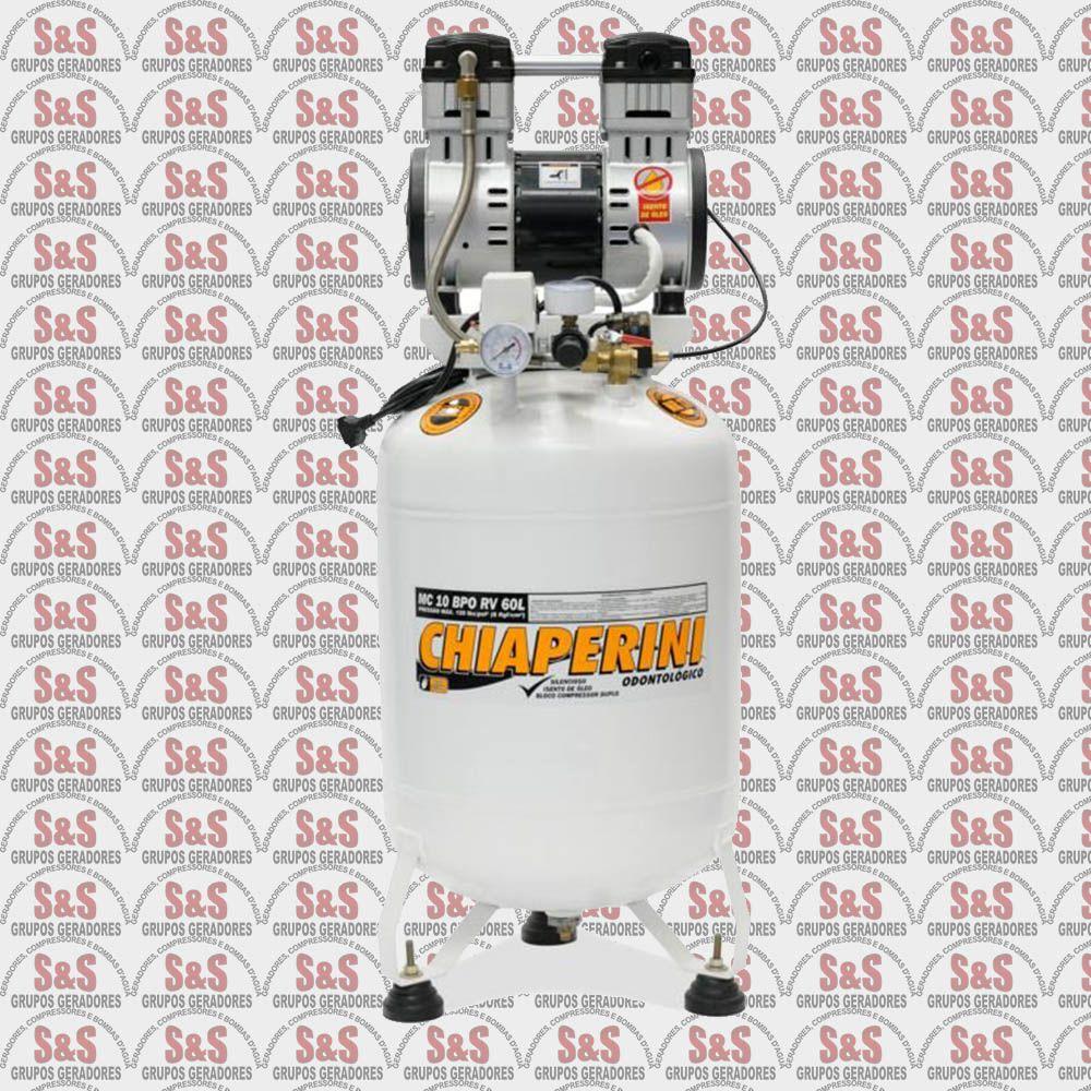 Compressor de Ar Odontológico  MC10 BPO RV 30L - Bivolt 127/220V - Chiaperini