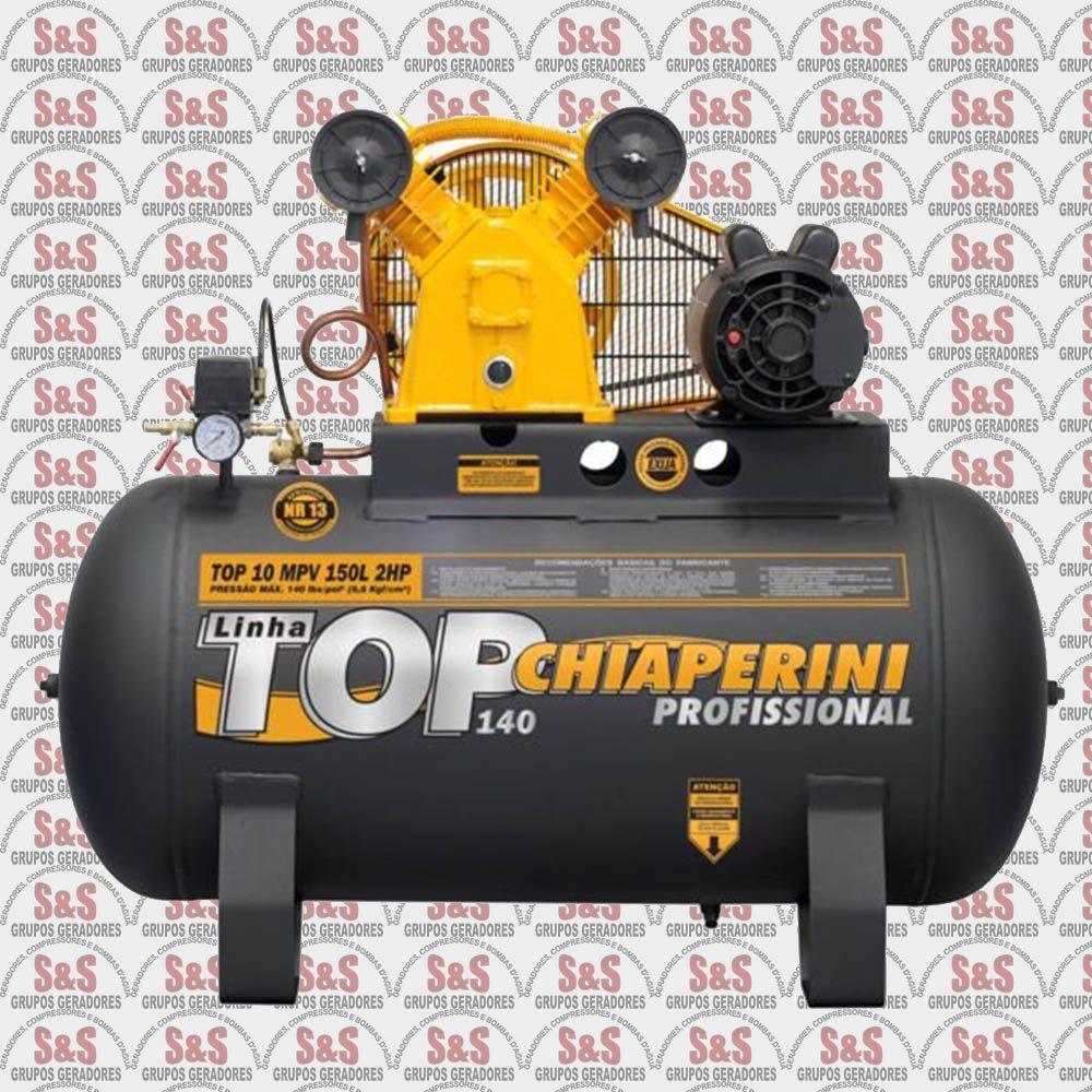 Compressor de Ar Top 10MPV 150L - Monofásico - Chiaperini