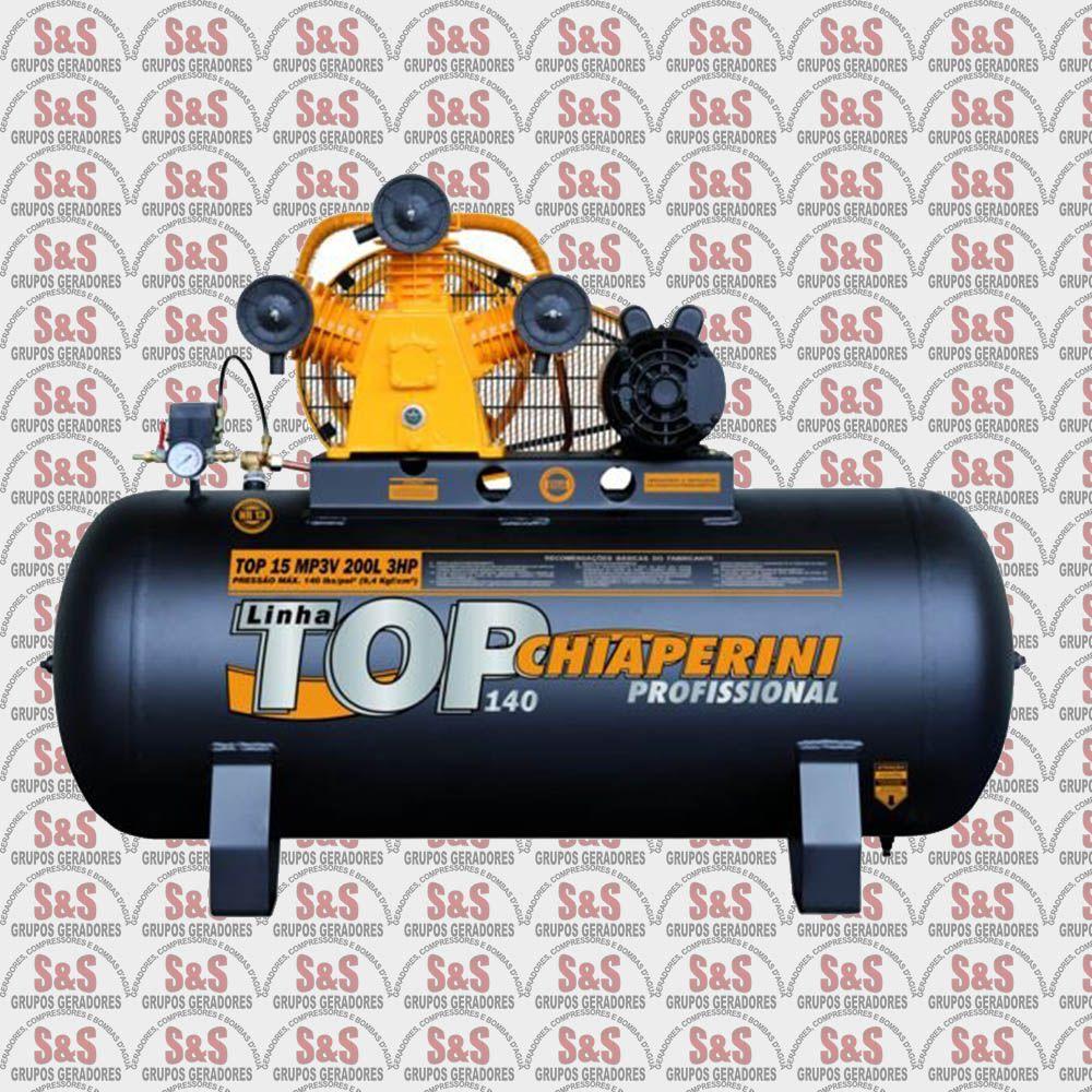 Compressor de Ar Top 15MP3V 150L - Trifásico - Chiaperini