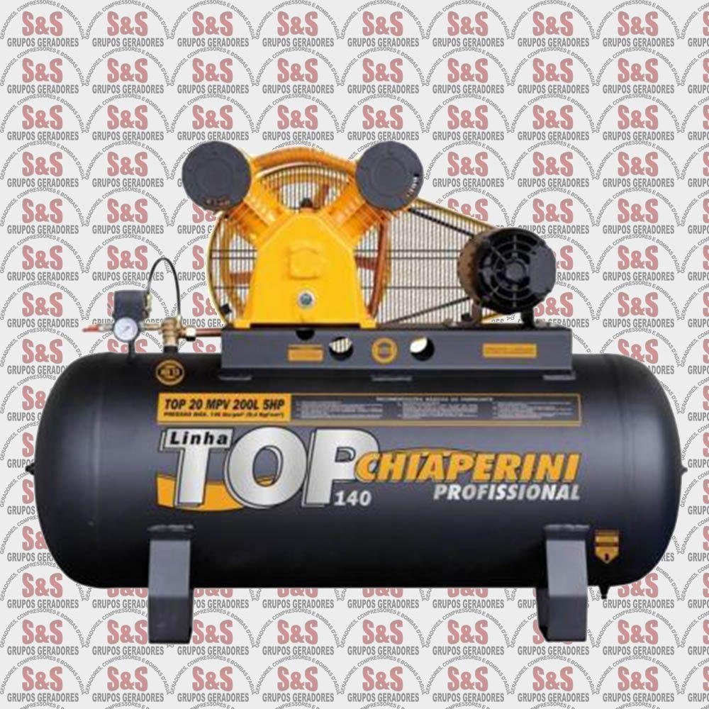Compressor de Ar Top 20MPV 200L - Trifásico - Chiaperini