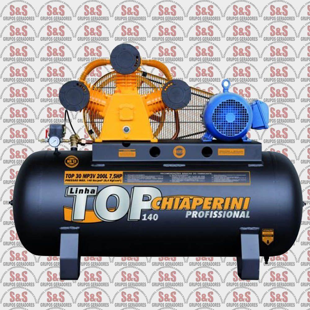 Compressor de Ar Top 30MP3V 200L - Trifásico - Chiaperini