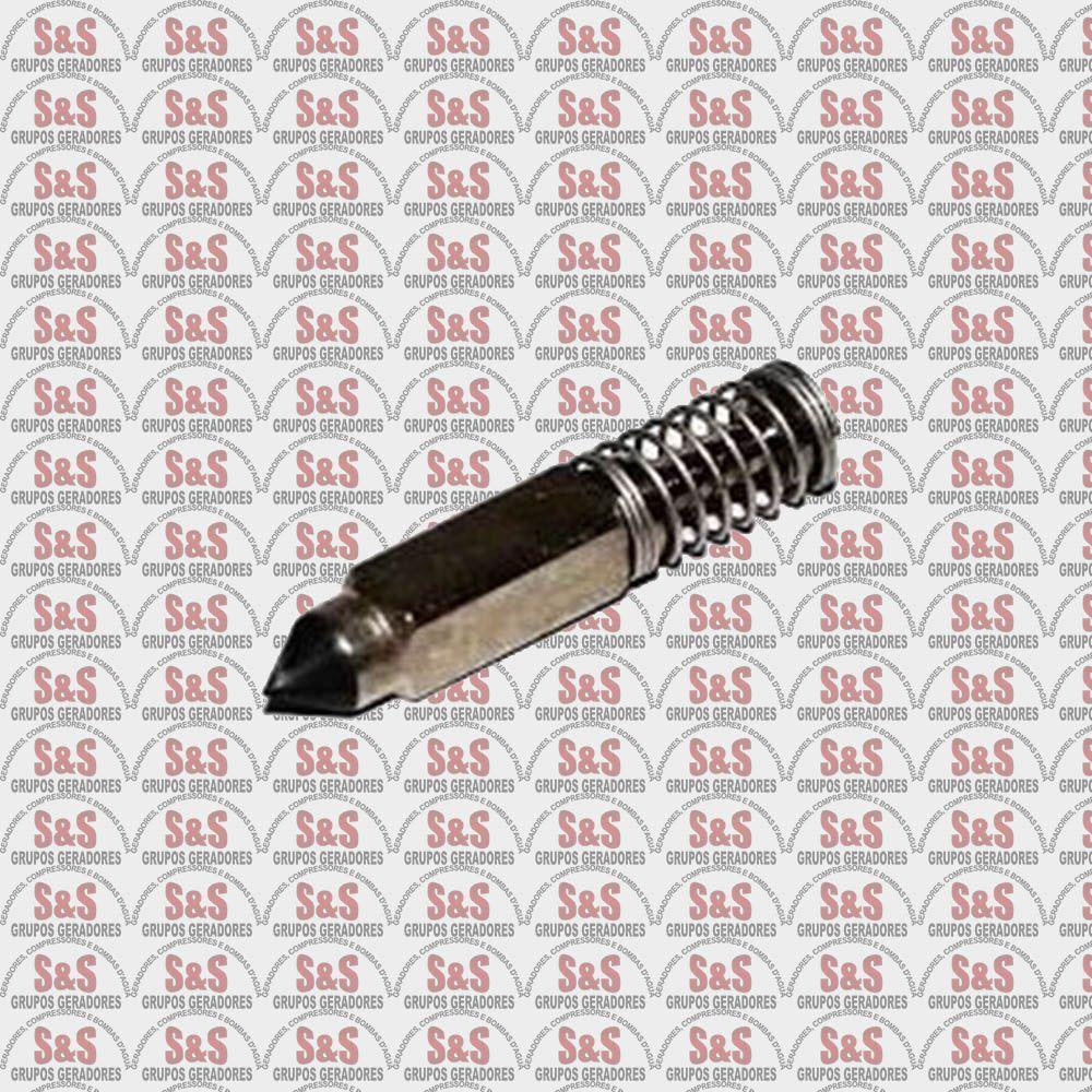 Conjunto Agulha com Mola Carburador Motor 5,5/6,5HP- Toyama/Branco/Motomil