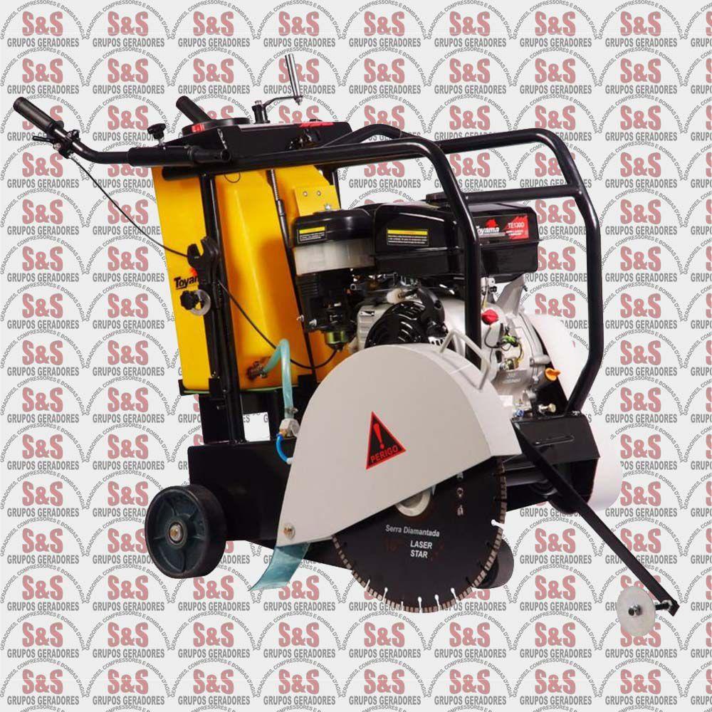 Cortador de Piso a Gasolina - Motor de 12  HP - 4 Tempos -  TCC450 - Toyama