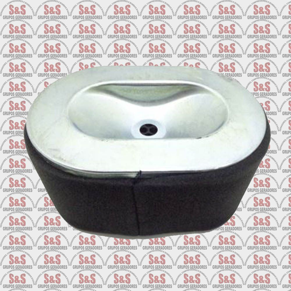 Elemento Filtrante Ar Motor Diesel 10/13HP - Toyama/Branco/Motomil