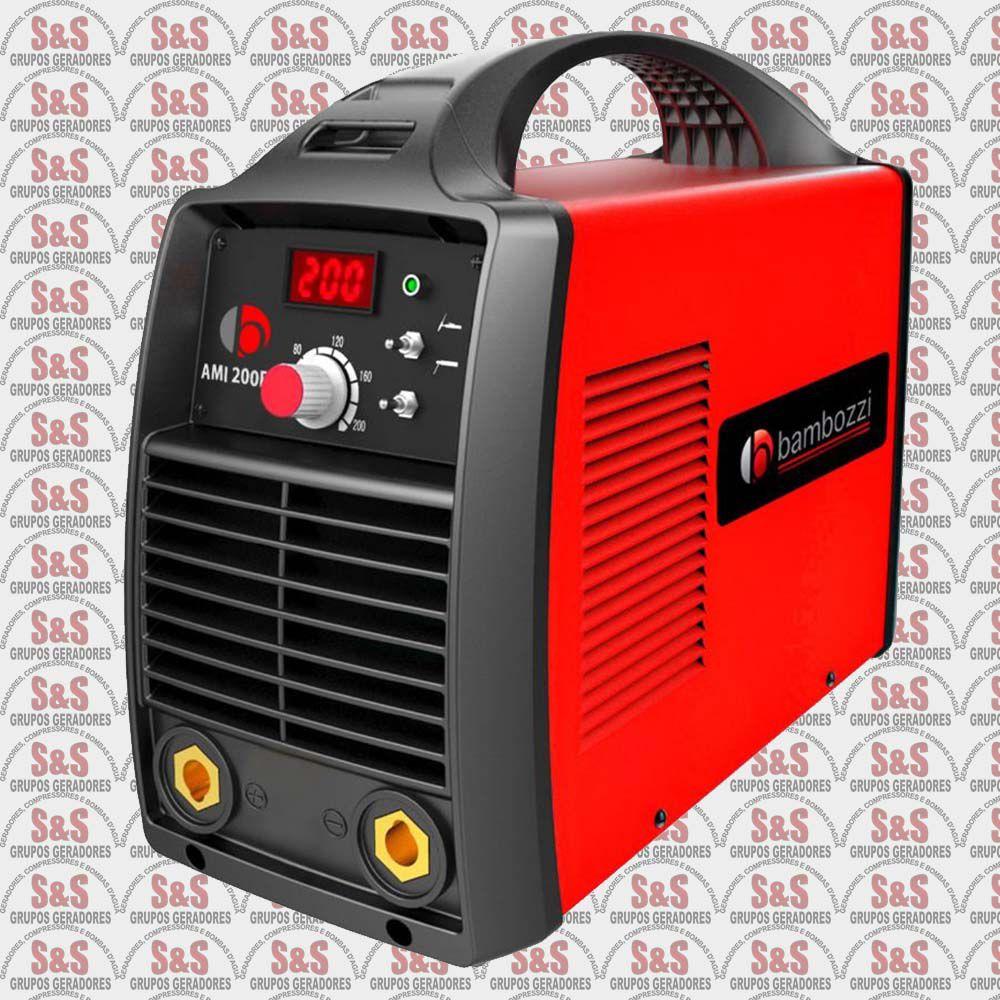 Fonte Inversora Eletrodos/Tig - Monofásica 220v - AMI 2000 ED - Bambozzi