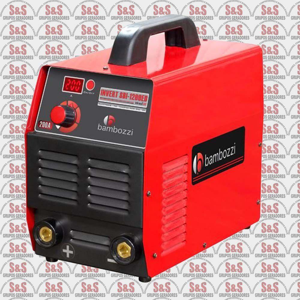 Fonte Inversora Eletrodos/Tig - Monofásica  220v - SBI 1200ED - Bambozzi