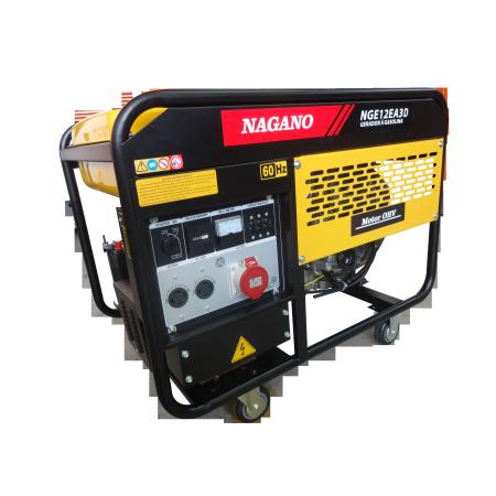 Gerador de energia a Gasolina 380V Trifásico 11.5kVA Refrigerado a Ar 60Hz - NGE12EA3D - Nagano