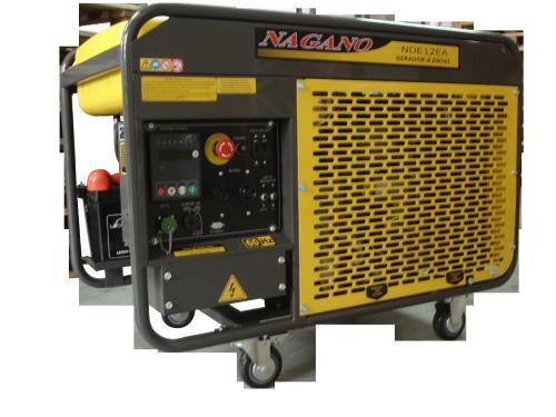Gerador de energia a Diesel, Monofásico 11.5 KVA, Partida Elétrica, Refrigerado a Água – NDE12EA - Nagano