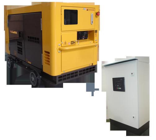 Gerador de energia a Diesel 220V Trifásico 21KVA, P.Elétrica, Silenciado com QTA- NDE19STA3QTA - Nagano