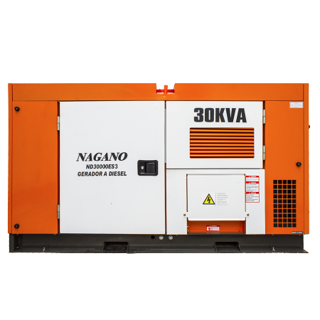 Gerador de energia a Diesel 220V Trifásico 30 KVA - ND30000ES3 - Nagano