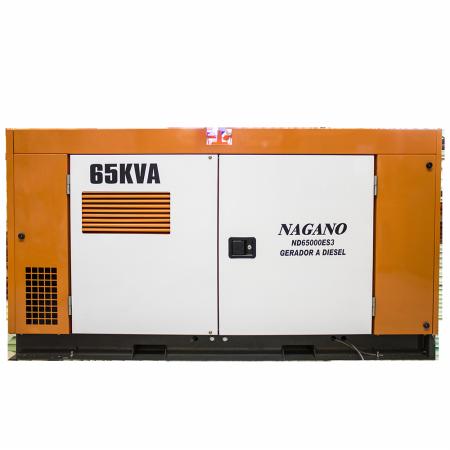 Gerador de energia a Diesel 380V Trifásico 65 KVA - ND65000ES3 - Nagano