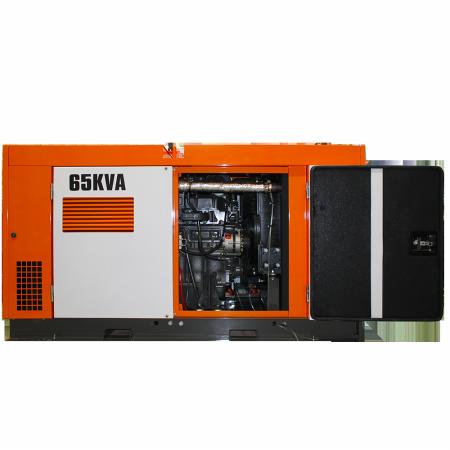 Gerador de energia a diesel 65 kVA trifásico 220V - partida elétrica silenciado cabinado c/ QTA Nagano - ND65000ES3QTA