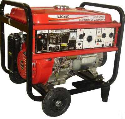 Gerador de energia a Gasolina 4 Tempos 220V Trifásico 6 kVA Partida Elétrica - NG6000E3 - Nagano