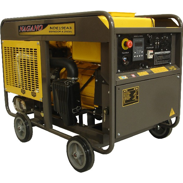 Gerador de energia a Diesel 220V Trifásico - 21KVA Partida Elétrica - NDE19EA3 - Nagano